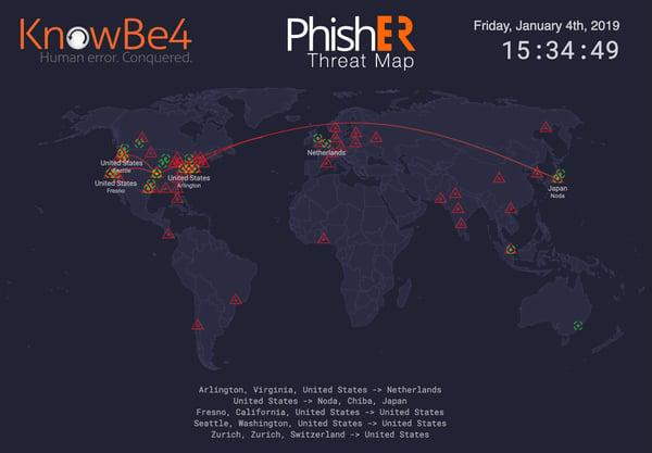 PhishER ThreatMap